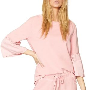 Sanctuary Charlize Bell Sleeve Sweatshirt Pink Sm